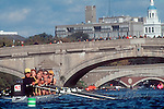 Rowing, Head of the Charles Regatta, Rowers racing on the Charles River, Cambridge, Massachusetts, New England, USA, North America,.