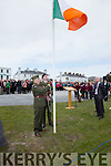 Captain Tim Casey & Sergeant Des O'Sullivan from E Coy 12th Bat Army Reserve raise the Tri Color at the Commemoration Rosalie Rice & Eugene & Tim Ring in Valentia on Sunday.