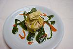 Appetizer, Ravioli, Pan e Vino Restaurant, Rome, Italy