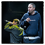 Beastie Boys MCA Adam Yauch and Mike D Mike Diamond perform as Saturday headliners on April 26, 2003