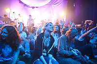 ROYAL OAK, MICHIGAN - SEPTEMBER 25: Fans in attendance as Edward Sharpe And The Magnetic Zeros perform at The Royal Oak Music Theatre in Royal Oak, Michigan on September 25, 2012. ©Joe Gall/MediaPunch Inc. /NortePhoto.com