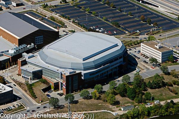 aerial photograph Wells Fargo Arena, Des Moines, Iowa
