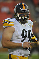 19 August 2013:  Steelers DE Brett Keisel and 'Da Beard'. The Washington Redskins defeated the Pittsburgh Steelers 24-13 in preseason action at FedEx Field in Landover, MD.