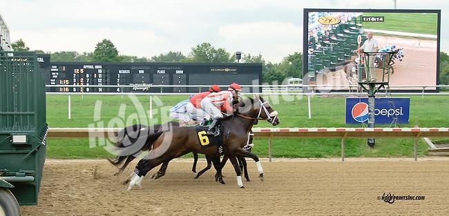 Miss Andorra winning at Delaware Park on 9/18/14