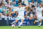 Marcos Llorente of Real Madrid in action during the Santiago Bernabeu Trophy 2017 match between Real Madrid and ACF Fiorentina at the Santiago Bernabeu Stadium on 23 August 2017 in Madrid, Spain. Photo by Diego Gonzalez / Power Sport Images