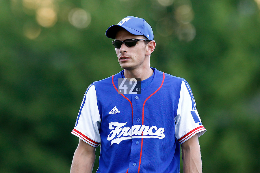 22 June 2011: Team France manager Fabien Proust is seen during AIST Alumni 5-3 win over France, at the 2011 Prague Baseball Week, in Prague, Czech Republic.