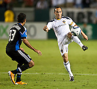 CARSON, CA – August 20, 2011: LA Galaxy midfielder Landon Donovan (10) during the match between LA Galaxy and San Jose Earthquakes at the Home Depot Center in Carson, California. Final score LA Galaxy 2, San Jose Earthquakes 0.