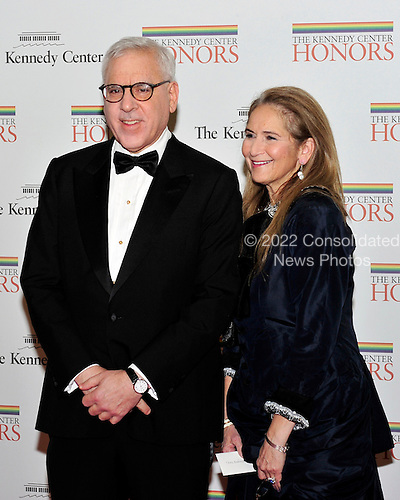 David M. Rubenstein, Chairman, John F. Kennedy Center for the Performing Arts and co-founder of The Carlyle Group, and his wife, Alice, arrive for the formal Artist's Dinner honoring the recipients of the 2011 Kennedy Center Honors hosted by United States Secretary of State Hillary Rodham Clinton at the U.S. Department of State in Washington, D.C. on Saturday, December 3, 2011. The 2011 honorees are actress Meryl Streep, singer Neil Diamond, actress Barbara Cook, musician Yo-Yo Ma, and musician Sonny Rollins..Credit: Ron Sachs / CNP