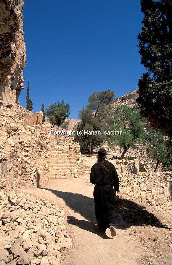Judean desert, the Russian Orthodox Chariton Monastery