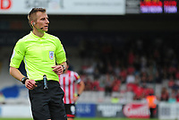 Referee Michael Salisbury<br /> <br /> Photographer Andrew Vaughan/CameraSport<br /> <br /> The EFL Sky Bet League Two - Lincoln City v Swindon Town - Saturday August 11th 2018 - Sincil Bank - Lincoln<br /> <br /> World Copyright &copy; 2018 CameraSport. All rights reserved. 43 Linden Ave. Countesthorpe. Leicester. England. LE8 5PG - Tel: +44 (0) 116 277 4147 - admin@camerasport.com - www.camerasport.com