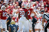 STANFORD, CA - September 15, 2018: Stanford Football wins over UC Davis 30-10 at Stanford Stadium.