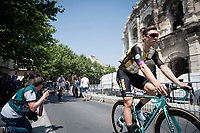 Tony Martin (DEU/Jumbo-Visma) wearing an ice vest for sign-on at the race start in front of the Arena in Nîmes<br /> <br /> Stage 16: Nîmes to Nîmes(177km)<br /> 106th Tour de France 2019 (2.UWT)<br /> <br /> ©kramon