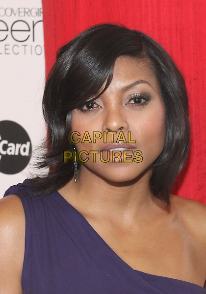 TARAJI P. HENSON.The Third Annual ESSENCE Black Women In Hollywood Luncheon held at The Beverly Hills Hotel in Beverly Hills, California, USA. .March 4th, 2010 .headshot portrait  purple one shoulder .CAP/ADM/TC.©T. Conrad/AdMedia/Capital Pictures.