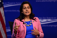 """Washington, DC - May 22, 2017: U.S. Representative Nanette Diaz Barragán participates in the """"Beyond the Ambition Gap: challenging the Systems That Keep Women Off Ballots and Out of Office"""" panel discussion held by the Center for American Progress in the District of Columbia May 22, 2017. (Photo by Don Baxter/Media Images International)"""
