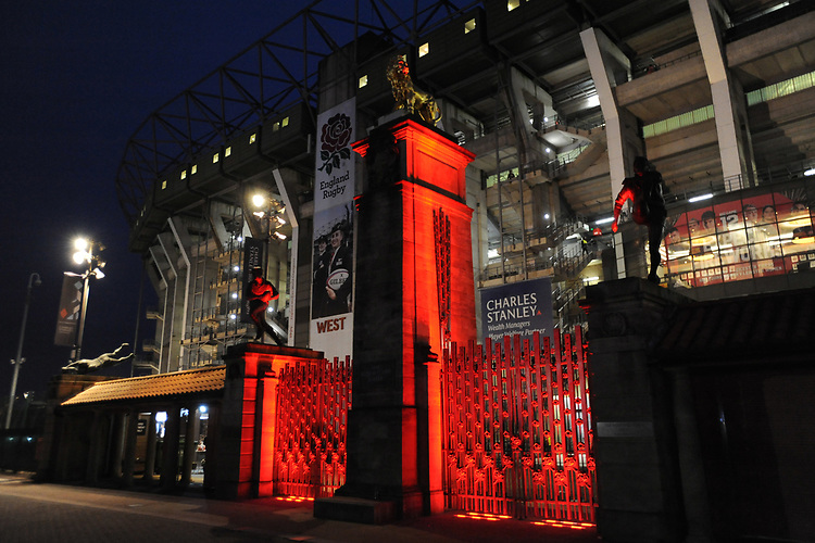 General view of the Rose Gate during Big Game 12 in the Gallagher Premiership Rugby match between Harlequins and Leicester Tigers at Twickenham Stadium on Saturday 28th December 2019 (Photo by Rob Munro/Stewart Communications)