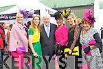 Tralee Ladies, Olivia Wall, Sarah Tobin Minister Jimmy Deenihan, Karyn Moriarty, Lorraine Scannell-Byrne and Maureen Scannell Pictured at Listowel Races on Friday.