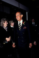 FILE PHOTO  - Oscar De La Renta attend his  perfume's launch in Montreal, March 1989<br /> <br /> Photo : Pierre Roussel - Agence Quebec Presse
