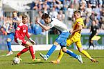 Christian Beck (Magdeburg, 11) schie&szlig;t Tor, Torsch&uuml;tze, erzielt Tor, Treffer, scores the goal zum 2:0 beim Spiel in der 3. Liga, 1. FC Magdeburg - Karlsruher SC.<br /> <br /> Foto &copy; PIX-Sportfotos *** Foto ist honorarpflichtig! *** Auf Anfrage in hoeherer Qualitaet/Aufloesung. Belegexemplar erbeten. Veroeffentlichung ausschliesslich fuer journalistisch-publizistische Zwecke. For editorial use only.