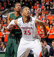 Virginia forward Akil Mitchell (25) during an NCAA basketball game Saturday Feb, 24, 2014 in Charlottesville, VA. Virginia defeated Miami 65-40.