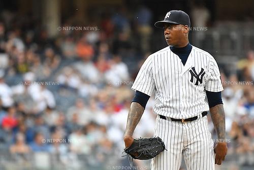 Aroldis Chapman (Yankees),<br /> MAY 26, 2016 - MLB : Aroldis Chapman of the New York Yankees during the Major League Baseball game at Yankee Stadium in the Bronx, NY, USA.<br /> (Photo by Hiroaki Yamaguchi/AFLO)