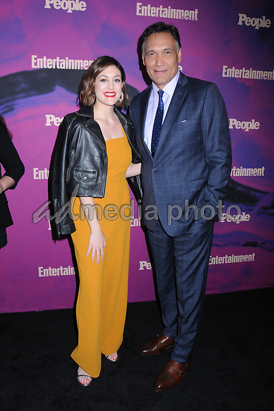 13 May 2019 - New York, New York - Caitlin McGee and Jimmy Smits at the Entertainment Weekly & People New York Upfronts Celebration at Union Park in Flat Iron. Photo Credit: LJ Fotos/AdMedia
