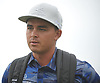 Rickie Fowler speaks with Newsday sportswriter Mark Herrmann (not in picture) following a practice round leading up to the U.S. Open Championship at Shinnecock Hills Golf Club in Southampton on Sunday, June 10, 2018.