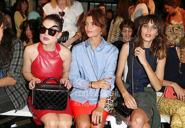 Kelly Osbourne, Pixie Geldof and Alexa Chung at the House of Holland catwalk show as part of London Fashion Week SS13, London. 15/09/2012 Picture by: Henry Harris / Featureflash
