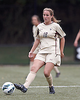 Boston College midfielder Patrice Vettori (18) passes the ball. After two overtime periods, Boston College tied University of Central Florida, 2-2, at Newton Campus Field, September 9, 2012.