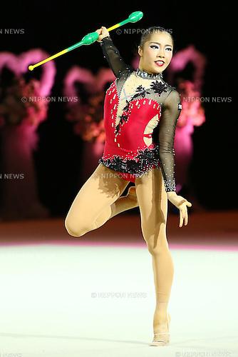 Maho Mikami,<br /> OCTOBER 2, 2015 - Rhythmic Gymnastics : <br /> AEON CUP 2015 Worldwide R.G. Club Championships <br /> at Tokyo Metropolitan Gymnasium, Tokyo, Japan. <br /> (Photo by Shingo Ito/AFLO SPORT)