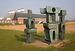 """Family of Man"" sculpture by Barbara Hepworth, Snape Maltings, Suffolk, England"