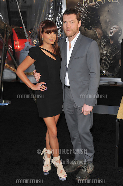 "Sam Worthington & girlfriend Natalie Mark at the Los Angeles premiere of his new movie ""Clash of the Titans"" at Grauman's Chinese Theatre, Hollywood..March 31, 2010  Los Angeles, CA.Picture: Paul Smith / Featureflash"
