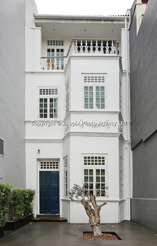 "An outside view of Andre's Restaurant built in a traditional ""colonial""s style building in Singapore 13 March 2015."