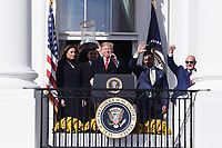 Washington, DC - November 4, 2019: President Donald J. Trump hosts the 2019 World Series Champion Washington Nationals at the White House, Nov 04, 2019. (Photo by Lenin Nolly/Media Images International)