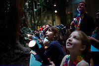 NEW YORK - JAN 19: 8 to 12 year olds spend the night at the American Museum of Natural History on January 19, 2007, in New York City.