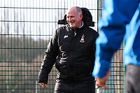 Bradford City manager Simon Grayson takes his first training session as Bradford City manager at their Apperley Bridge training facilities, Bradford, England on 12 February 2018. Photo by Thomas Gadd.