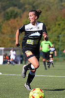 20190921 – LEUVEN, BELGIUM :E. Aalst's Evy de Smedt is pictured during a women soccer game between Oud Heverlee Leuven Ladies B and Eendracht Aalst Ladies on the fourth matchday of the Belgian Division 1 season 2019-2020, the Belgian women's football national division 1, Saturday 21th September 2019 at the Bruinveld Youth Complex, Domeinstraat in Leuven , Belgium. PHOTO SPORTPIX.BE | SEVIL OKTEM