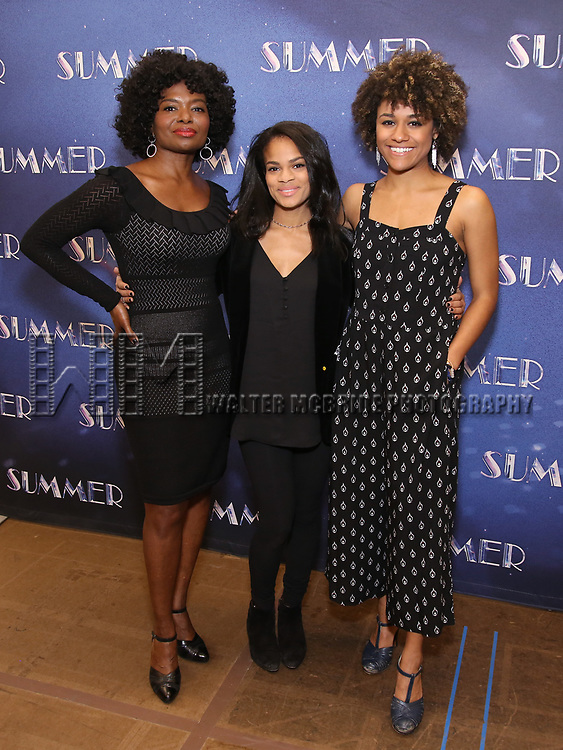 """LaChanze, Storm Lever and Ariana DeBose attends the Meet & Greet for """"Summer: The Donna Summer Musical"""" on March 8, 2018 at the New 42nd Street Studios,  in New York City."""