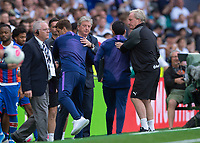 Roy Hodgson Manager of Crystal Palace and Maurizio Pochettino Manager of Tottenham Hotspur after the Premier League match between Tottenham Hotspur and Crystal Palace at Wembley Stadium, London, England on 14 September 2019. Photo by Vince  Mignott / PRiME Media Images.