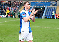 Blackburn Rovers' Corry Evans applauds the crowd at the of todays match<br /> <br /> Photographer Rachel Holborn/CameraSport<br /> <br /> The EFL Sky Bet League One - Blackburn Rovers v Southend United - Saturday 7th April 2018 - Ewood Park - Blackburn<br /> <br /> World Copyright &copy; 2018 CameraSport. All rights reserved. 43 Linden Ave. Countesthorpe. Leicester. England. LE8 5PG - Tel: +44 (0) 116 277 4147 - admin@camerasport.com - www.camerasport.com