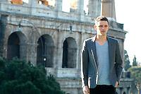 "JAMIE BELL.Photocall for ""Jumper"", Rome, Italy..February 6th, 2008.half length grey gray jacket.CAP/CAV.©Luca Cavallari/Capital Pictures."