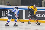 15.04.2018, EnergieVerbund Arena, Dresden, GER, Euro Hockey Challenge, Deutschland vs. Slowakei, im Bild<br /> <br /> <br /> Nicolas Krammer (#21, Deutschland), Peter Trska (#63, Slowakei), <br /> <br /> Foto &copy; nordphoto / Dostmann