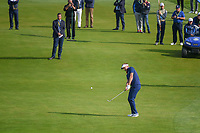 Ian Poulter (Team Europe) chips on to 9 during Friday's foursomes of the 2018 Ryder Cup, Le Golf National, Guyancourt, France. 9/28/2018.<br /> Picture: Golffile | Ken Murray<br /> <br /> <br /> All photo usage must carry mandatory copyright credit (© Golffile | Ken Murray)