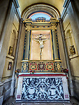 Altar and crucifix, Parrocchia Santa Maria in Porto, Roman Catholic Church, Ravenna, Italy