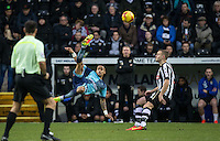 Paris Cowan-Hall of Wycombe Wanderers hits the ball upfield during the Sky Bet League 2 match between Notts County and Wycombe Wanderers at Meadow Lane, Nottingham, England on 10 December 2016. Photo by Andy Rowland.