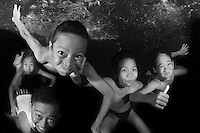 Kids having fun in Amed / Bali