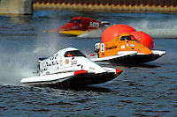 Don Wilson (#88), Rob Rinker (#1) & Ashton Rinker (#3) SST-45 class.Bay City River Roar, Bay City,Michigan USA.26-2821 June, 2009..©F. Peirce Williams 2009 USA.F.Peirce Williams.photography.ref: RAW (.NEF) File Available