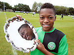 Karamoko Dembélé is presented with the player of the tournament at the Youdan Trophy 2016, United Kingdom on 4 August 2016. Photo by Glenn Ashley Photography