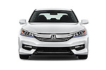 Car photography straight front view of a 2017 Honda Accord Hybrid 4 Door Sedan Front View