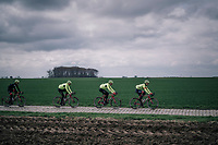 Team Trek-Segafredo during parcours recon of the 116th Paris-Roubaix 2018, 3 days prior to the race