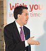 Rt Hon Ed Miliband MP<br /> Leader of the Labour party and leader of the opposition<br /> and the Rt Hon Ed Balls MP Shadow Chancellor press conference and Q &amp; A <br /> 30th April 2012 <br /> Coing Street Neigbourhood Centre, London, Great Britain <br /> <br /> <br /> Ed Miliband<br /> Ed Balls